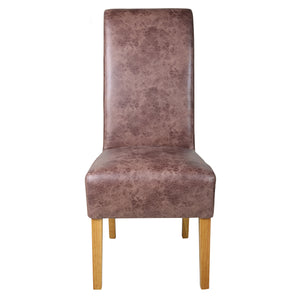 London Vintage Faux Leather Dining Chair | Brown - HomePlus Furniture