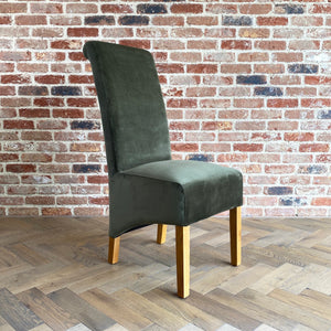 London Velvet Dining Chair | Green - HomePlus Furniture