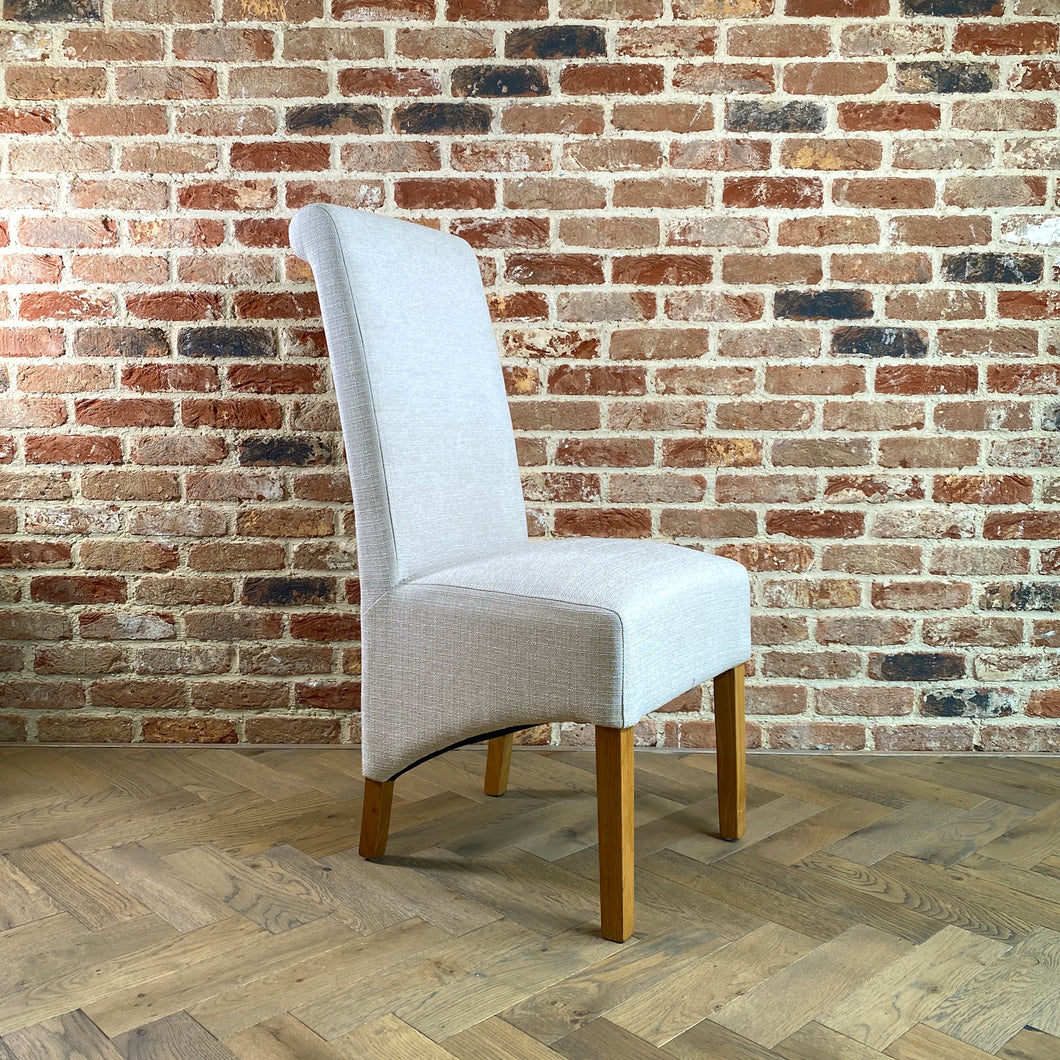 London Linen Dining Chair | Cream - HomePlus Furniture