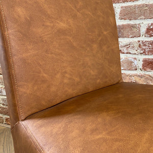 London Faux Leather Dining Chair | Tan - HomePlus Furniture