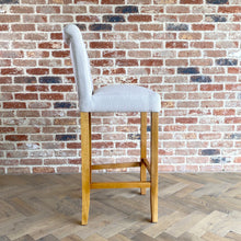 Luxury Fabric Bar Stool | Cream - HomePlus Furniture
