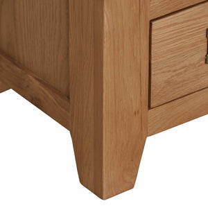Cambridge Oak Small 1 Drawer 2 Door Sideboard - Cambridge - HomePlus Furniture