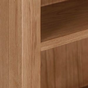 Cambridge Oak Small Bookcase (0.9 m) - HomePlus Furniture