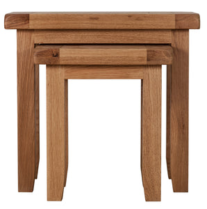 Cambridge Oak Nest of 2 Tables - Cambridge - HomePlus Furniture