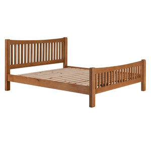 Cambridge Oak Curved 6ft Superking Bed - HomePlus Furniture