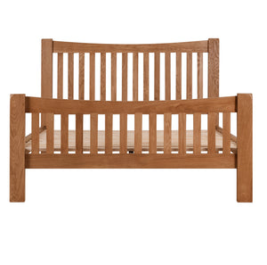 Cambridge Oak Curved 5ft Kingsize Bed - Cambridge - HomePlus Furniture
