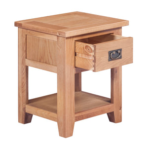 Mini Canterbury Oak 1 Drawer Lamp Table