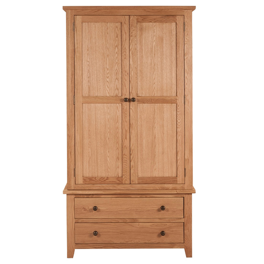 Mini Waxed Canterbury 2 Door 2 Drawer Wardrobe