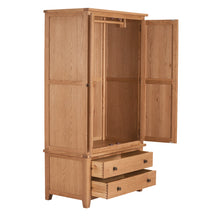 Mini Waxed Canterbury 2 Door 2 Drawer Wardrobe - HomePlus Furniture