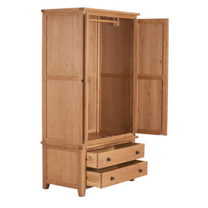 Mini Waxed Canterbury 2 Door 2 Drawer Wardrobe - Mini Waxed Canterbury - HomePlus Furniture