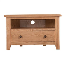 Mini Waxed Canterbury Corner TV Unit