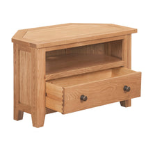 Mini Waxed Canterbury Corner TV Unit - HomePlus Furniture