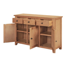 Mini Waxed Canterbury 3 Door 3 Drawer Sideboard