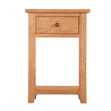 Mini Waxed Canterbury 1 Drawer Console Table