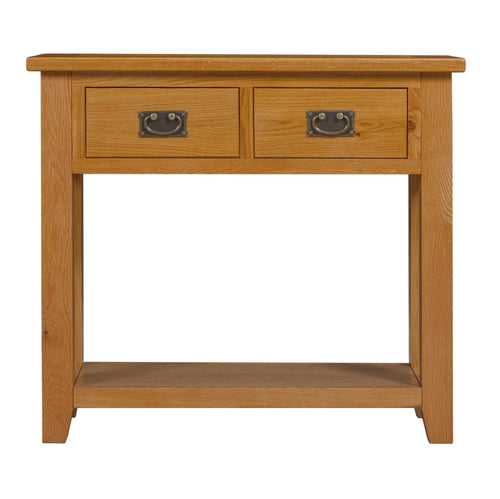 Mini Rustic Canterbury 2 Drawer Console Table