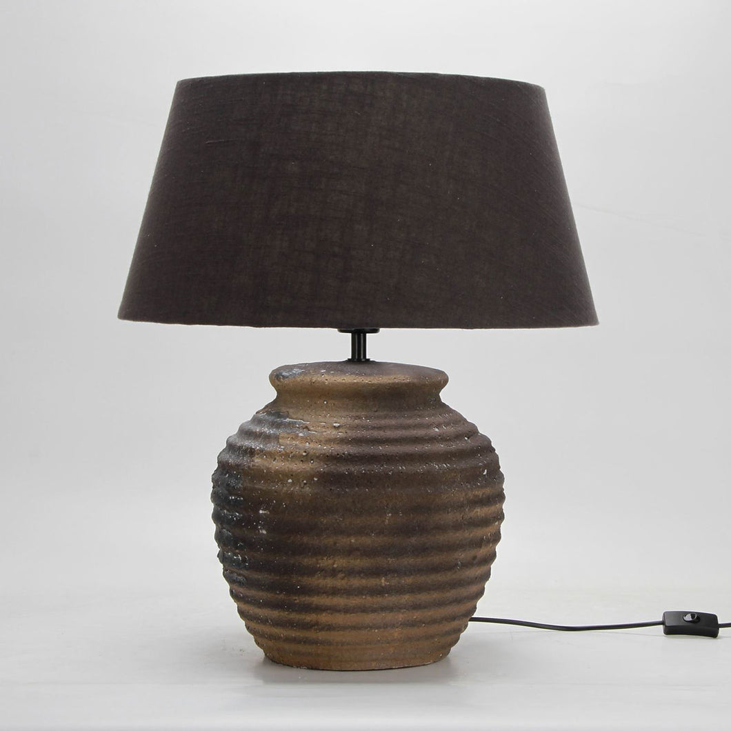 Honeypot Ribbed Lamp