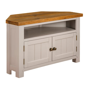Cotswold French Grey Corner TV Unit