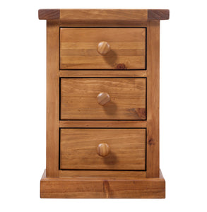 Wellington Pine Kids 3 Drawer Bedside Table