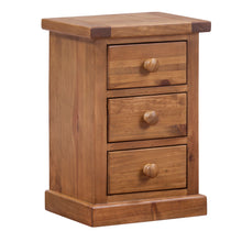 Wellington Pine Kids 3 Drawer Bedside Table - Wellington Pine - HomePlus Furniture