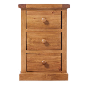 Wellington Pine 3 Drawer Bedside Table