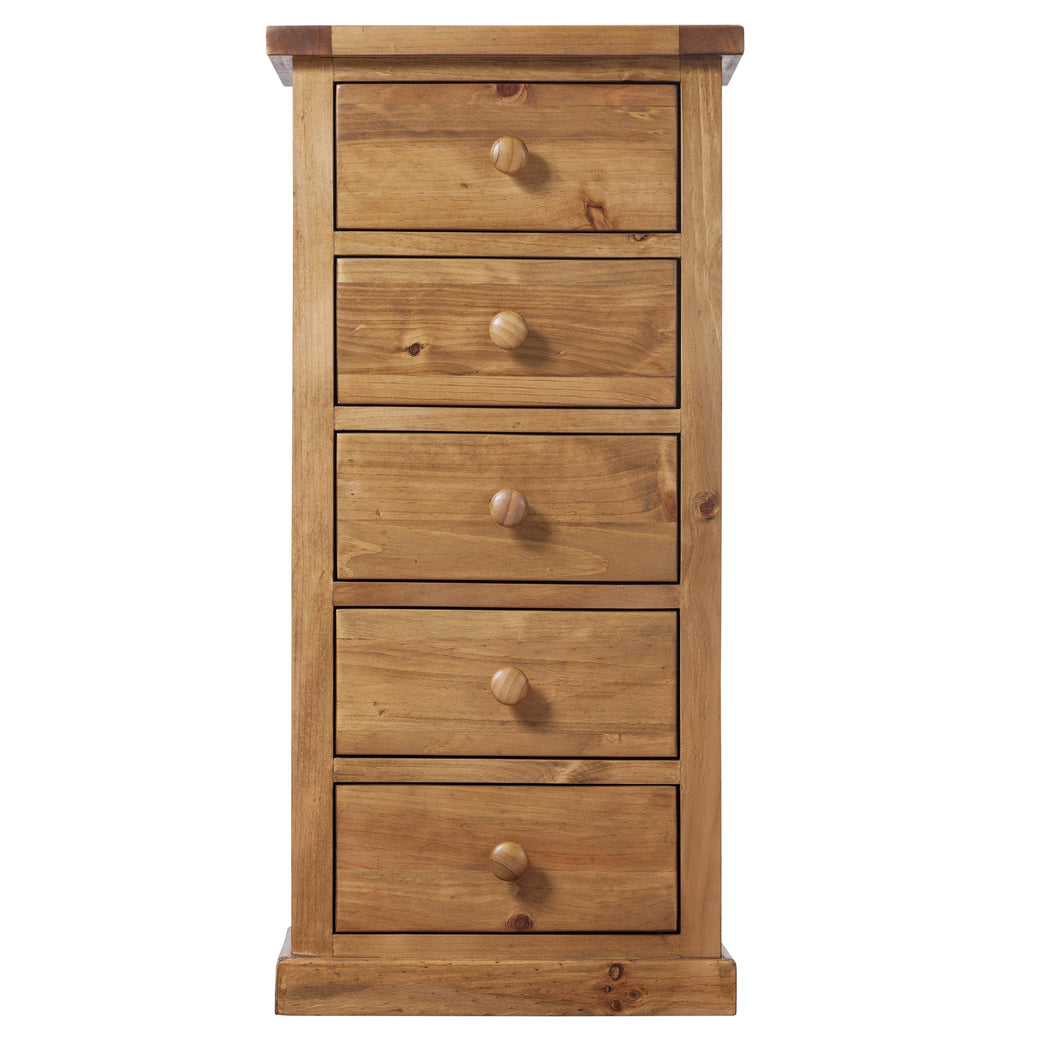 Wellington Pine 5 Drawer Wellington Chest - Wellington Pine - HomePlus Furniture