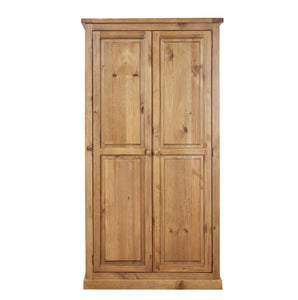 Wellington Pine Full Hanging Wardrobe