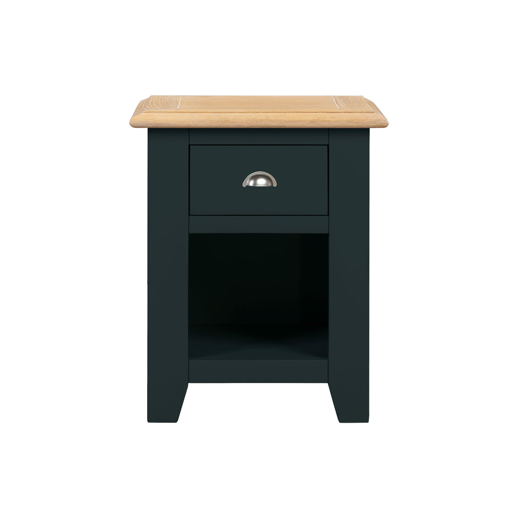 Oxford Painted Oak Small 1 Drawer Bedside Table - Oxford Painted Oak - HomePlus Furniture