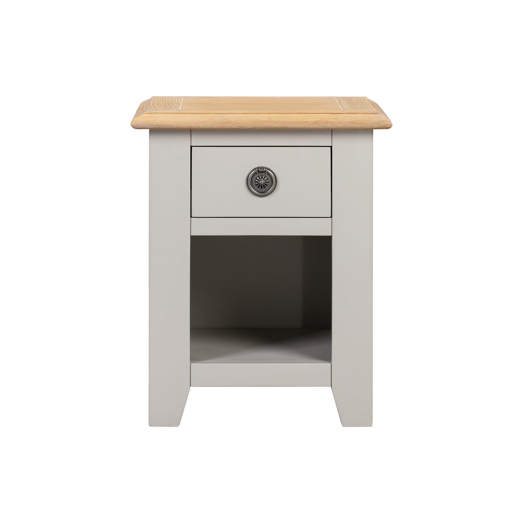 Oxford Painted Oak Small 1 Drawer Bedside Table - HomePlus Furniture