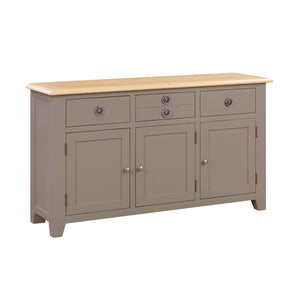 Oxford Painted Oak 3 Door 3 Drawer Sideboard - Oxford Painted Oak - HomePlus Furniture