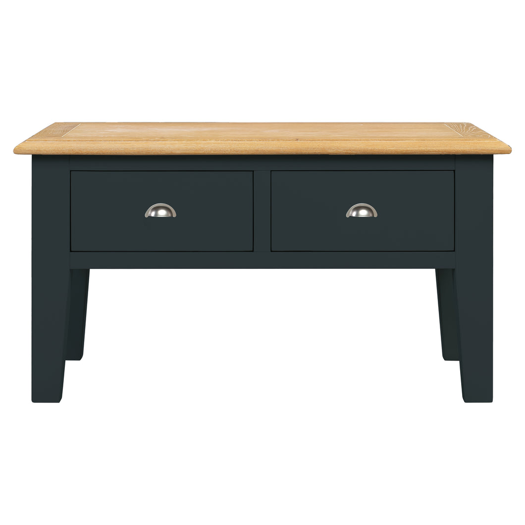 Oxford Painted Oak Coffee Table with Drawers - HomePlus Furniture