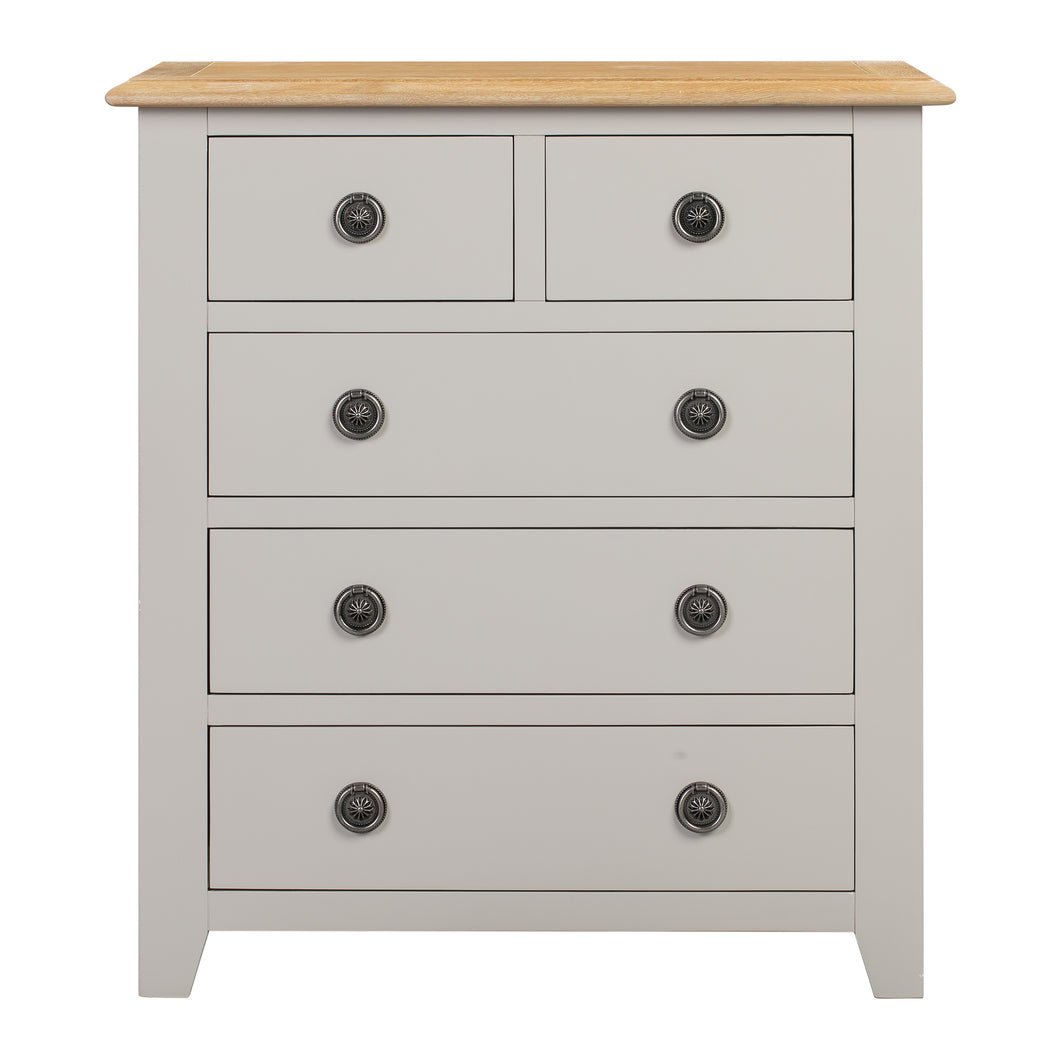 Oxford Painted Oak 2 Over 3 Chest Of Drawers - HomePlus Furniture
