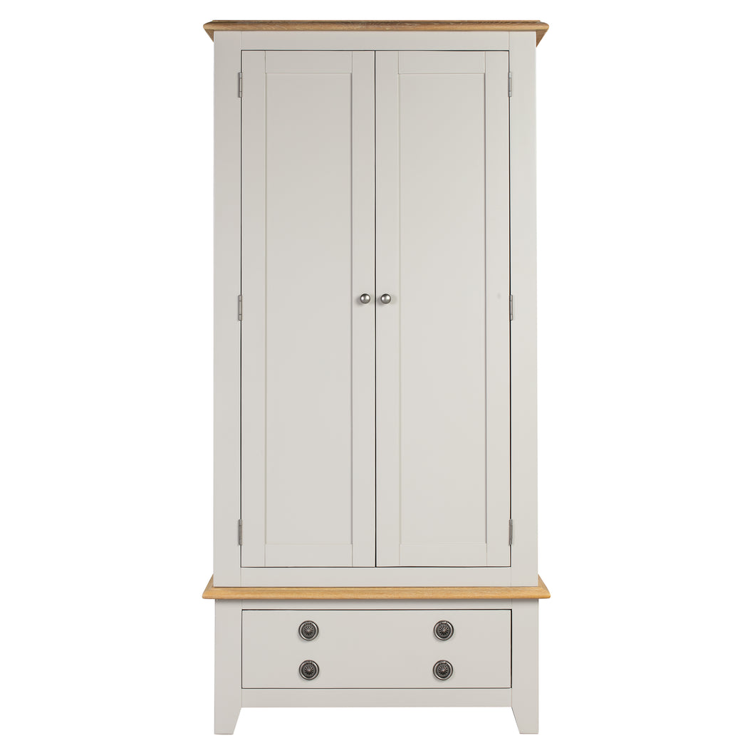 Oxford Painted Oak Double Wardrobe - Oxford Painted Oak - HomePlus Furniture