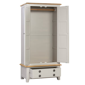 Oxford Painted Oak Double Wardrobe - HomePlus Furniture