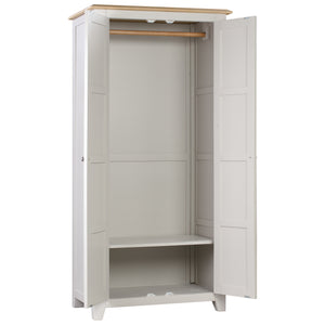 Oxford Painted Oak Full Hanging Wardrobe - Oxford Painted Oak - HomePlus Furniture