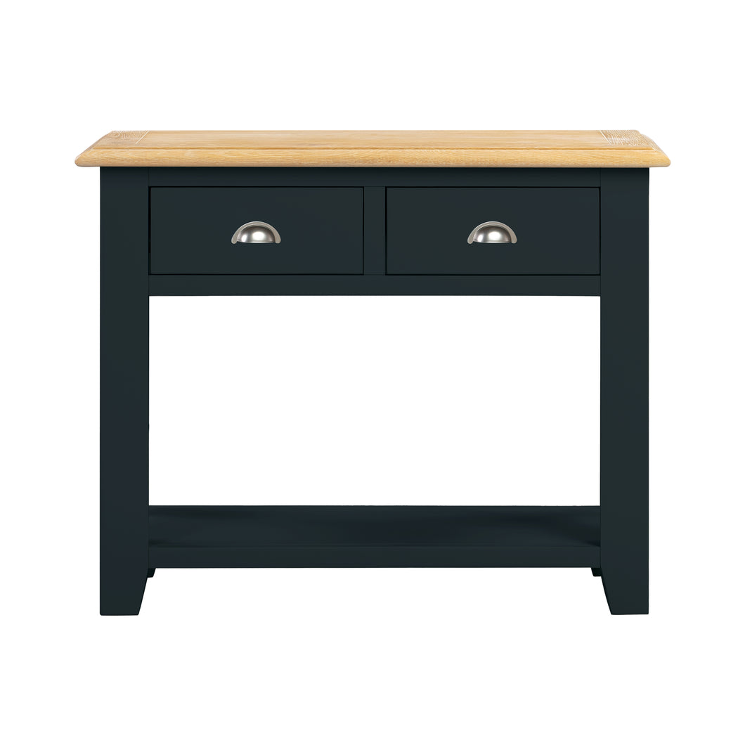 Oxford Painted Oak 2 Drawer Console Table - Oxford Painted Oak - HomePlus Furniture