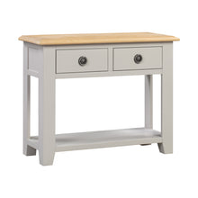 Oxford Painted Oak 2 Drawer Console Table - HomePlus Furniture