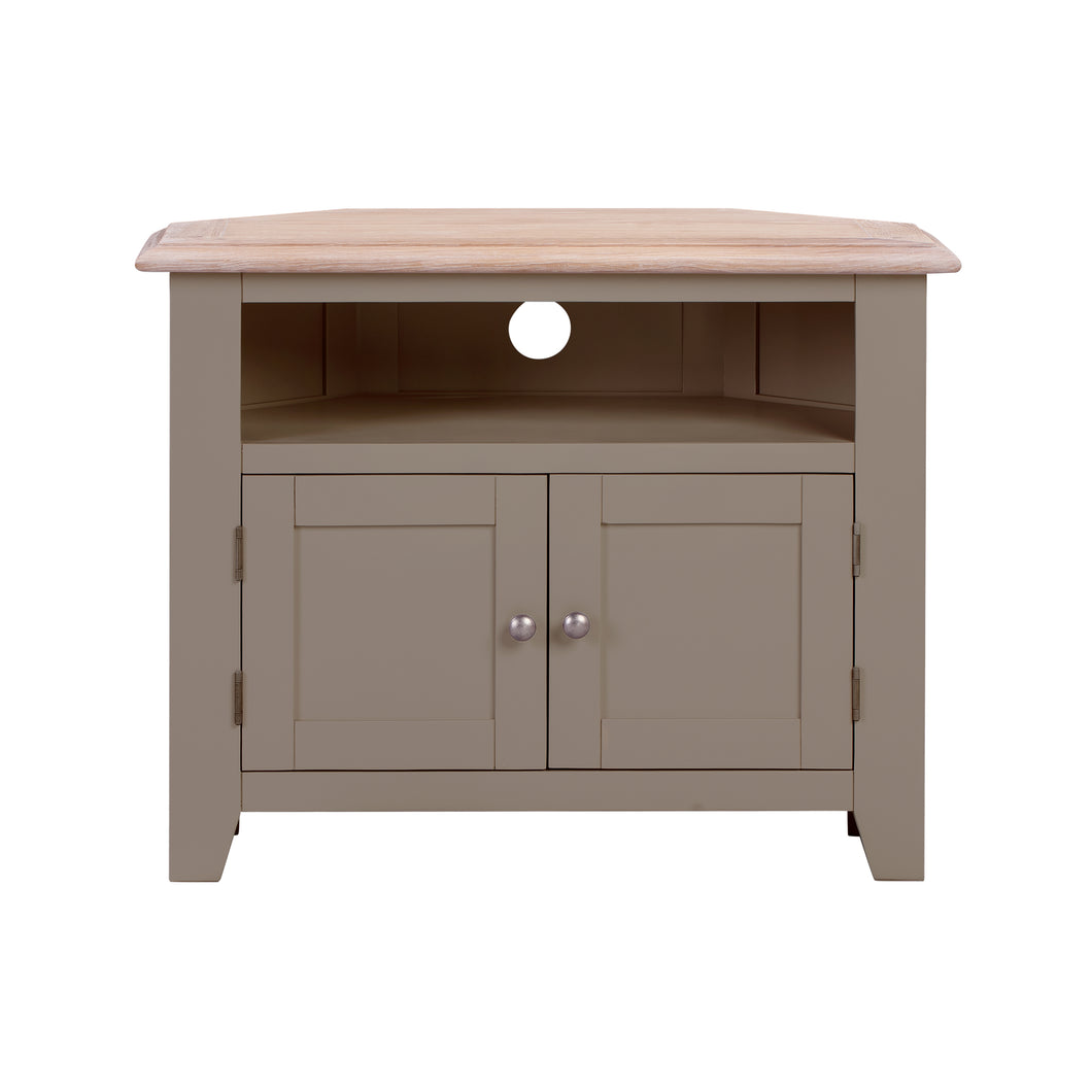 Oxford Painted Oak Corner TV Unit - HomePlus Furniture
