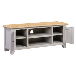 Oxford Painted Oak Large TV Unit - HomePlus Furniture