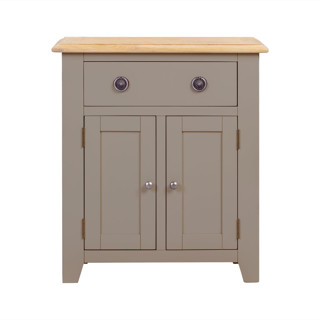 Oxford Painted Oak Small 2 Door 1 Drawer Sideboard - Oxford Painted Oak - HomePlus Furniture