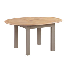 Oxford Painted Oak Round Extending Dining Table (1.1 m- 1.5 m) - HomePlus Furniture