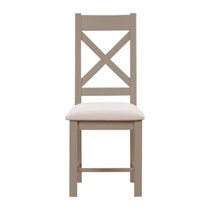 Oxford Painted Oak Dining Chair | Fabric Seat - HomePlus Furniture