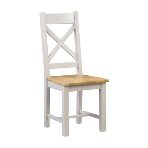 Oxford Painted Oak Wooden Dining Chair - Oxford Painted Oak - HomePlus Furniture