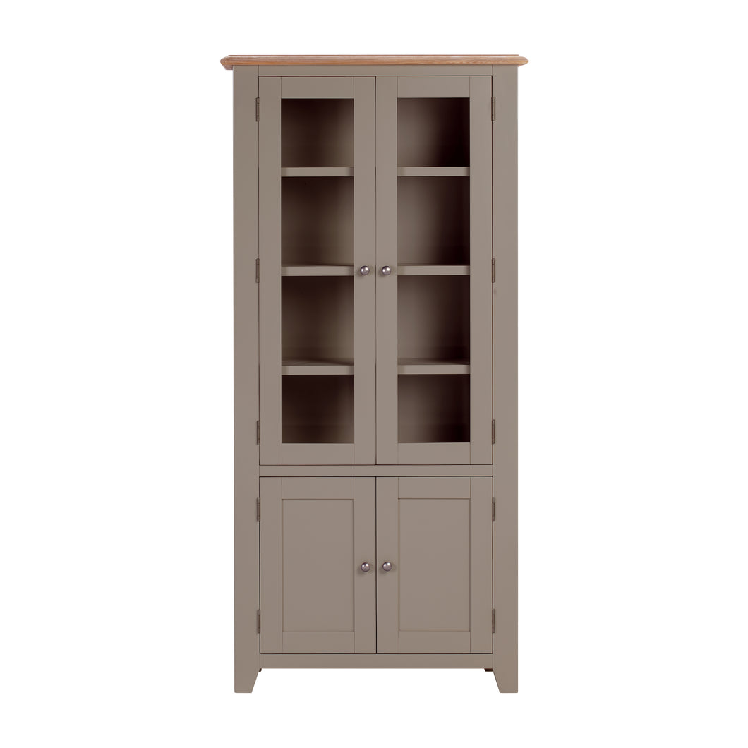 Oxford Painted Oak Display Cabinet - Oxford Painted Oak - HomePlus Furniture