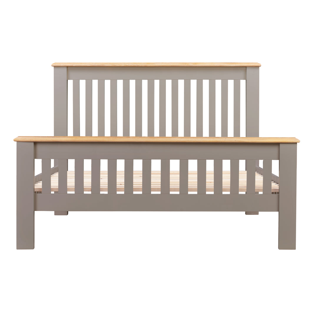 Oxford Painted Oak 4ft 6' Double Bed - HomePlus Furniture