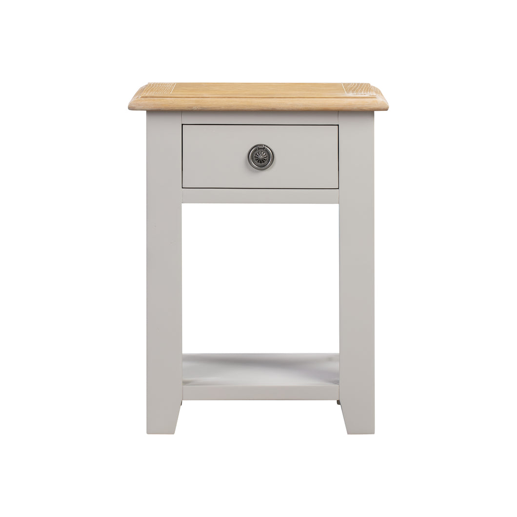Oxford Painted Oak 1 Drawer Console Table - Oxford Painted Oak - HomePlus Furniture