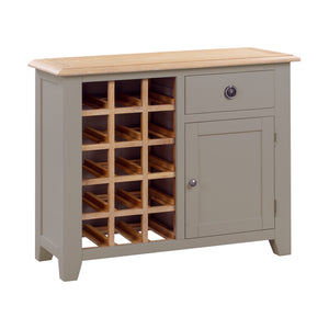 Oxford Painted Oak Small Wine Cabinet - HomePlus Furniture