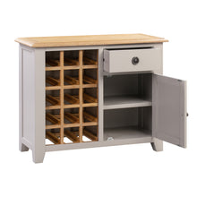 Oxford Painted Oak Small Wine Cabinet - Oxford Painted Oak - HomePlus Furniture