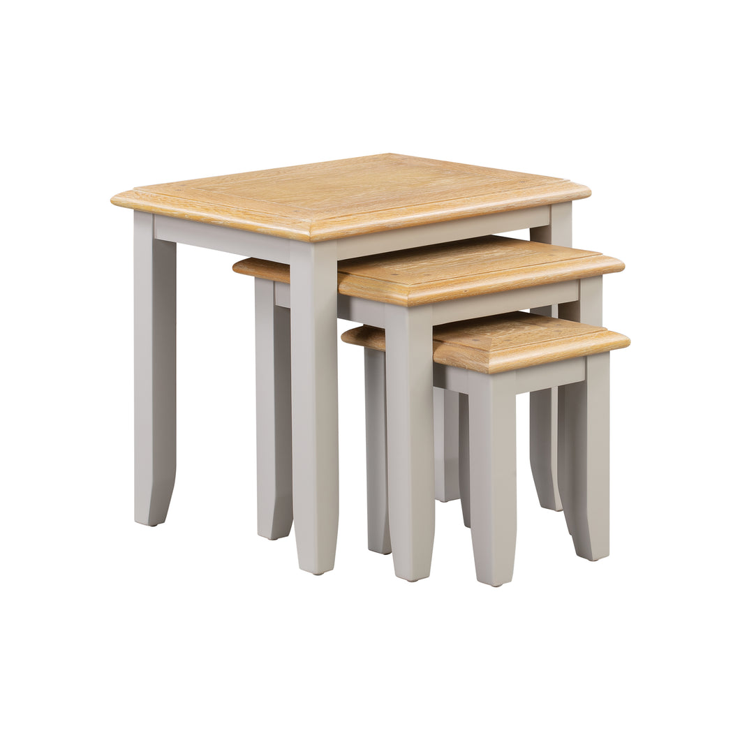 Oxford Painted Oak Nest of 3 Tables - HomePlus Furniture