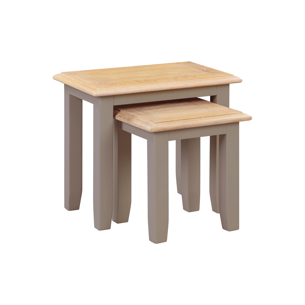 Oxford Painted Oak Nest of 2 Tables - HomePlus Furniture