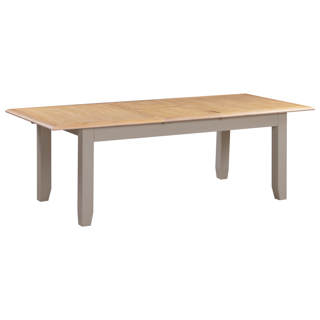 Oxford Painted Oak Large Extending Dining Table (1.8 m- 2.3 m) - HomePlus Furniture